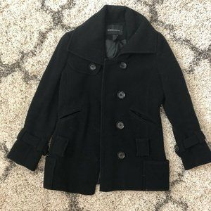 Victoria Secret Black Peacoat Double Breasted Coat